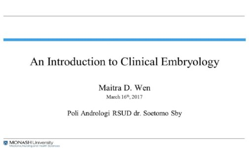 An Introduction of Clinical Embryology