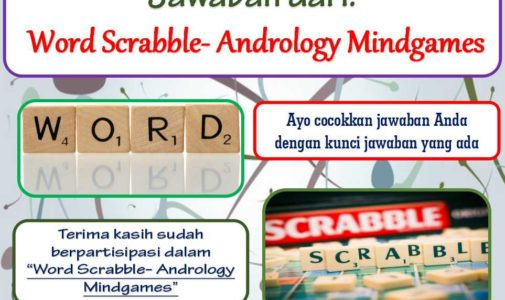 Jawaban Word Scrabble- Andrology Mindgames